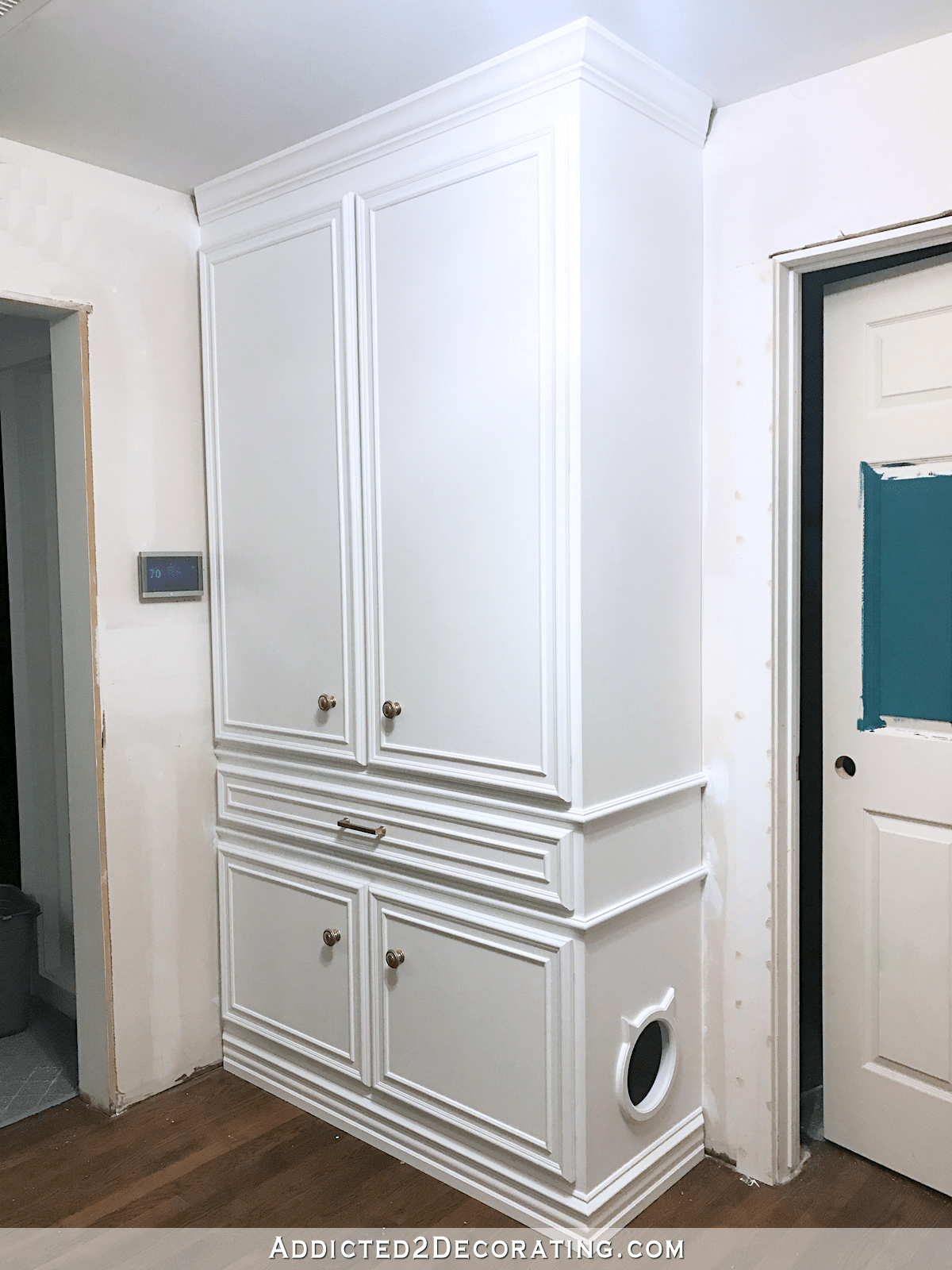 DIY Hallway Cabinets  All Painted And Practically Finished