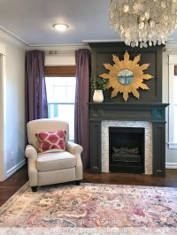 Living Room Fireplace Color  White Or Gray?