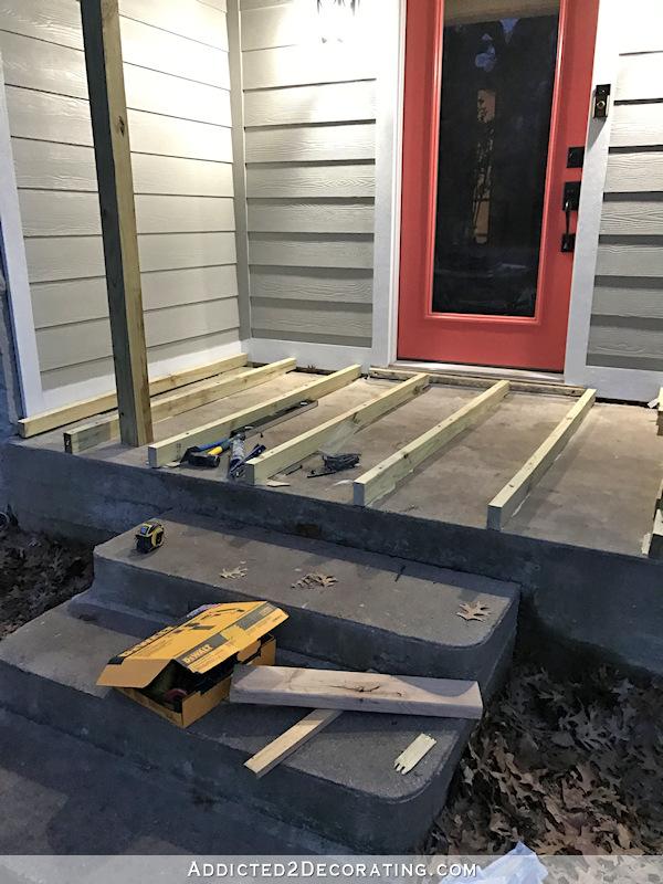 existing concrete porch