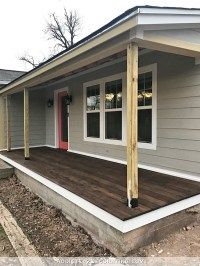 Finished Front Porch Floor (Wood Front Porch Built Over ...
