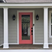 Finished Front Porch Columns And Of