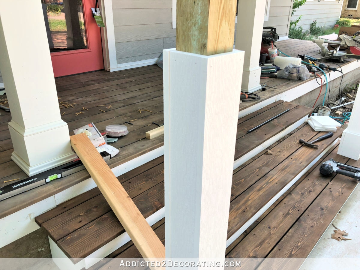 How To Build Porch Step Railing Addicted 2 Decorating®   Handrails For Porch Steps   Elderly   Makeover   Metal   Back Porch   Aluminum