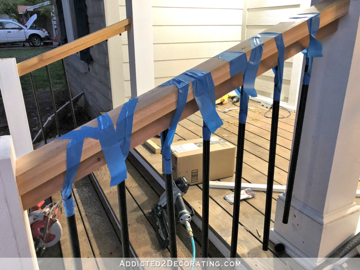How To Build Porch Step Railing Addicted 2 Decorating® | Front Porch Stair Railing | Wood | Style Cape Cod | Modern | Simple | Patio