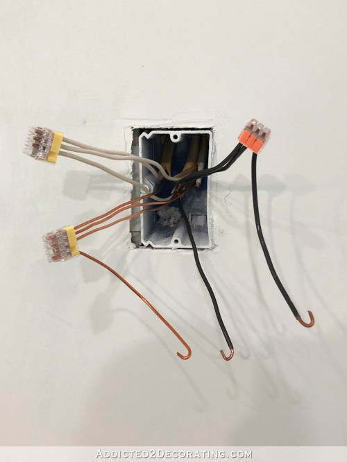 small resolution of and with that i have everything i need to connect the light switch a black hot wire feeding power to the switch a black hot wire sending power to