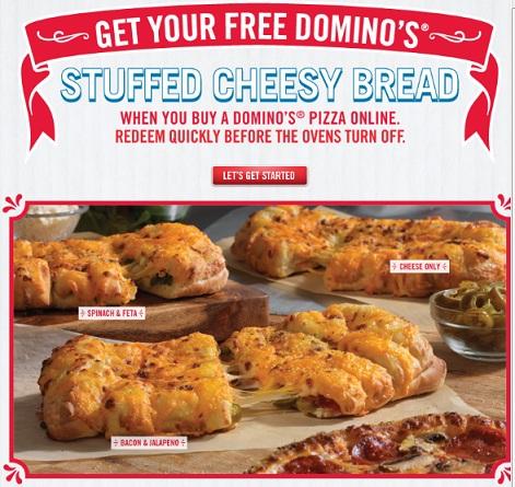 Dominos Cheesy Bread Addictedtosavingcom