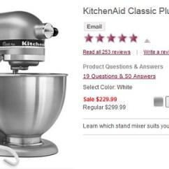 Kitchen Aid Classic Plus Small Sink Ideas Still Available Kitchenaid 4 5 Quart Stand Mixer