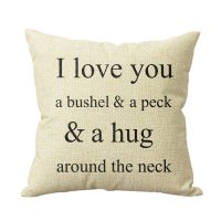 I Love You A Bushel And A Peck Throw Pillow Cover Only $3 ...