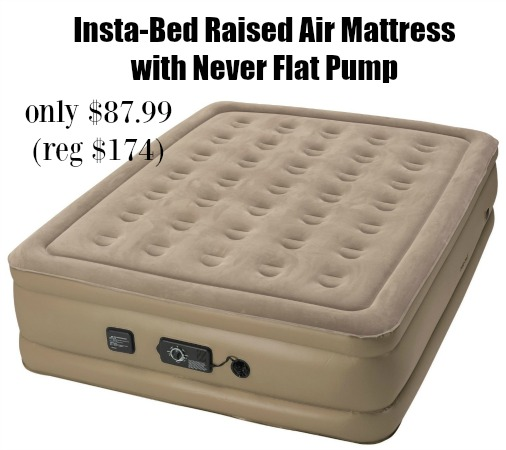 InstaBed Raised Queen Air Mattress with Never Flat Pump only 8799 shipped  AddictedToSavingcom