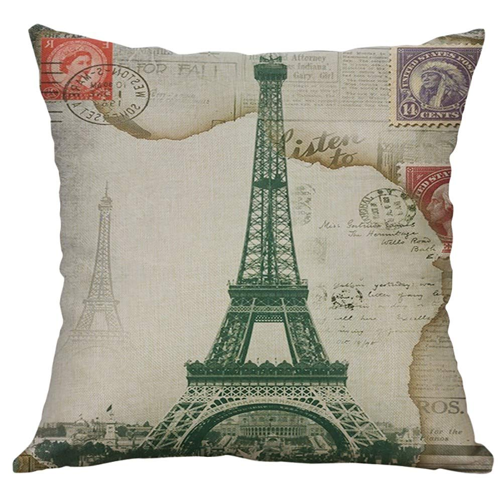 Eiffel Tower Throw Pillow Cover 379  FREE Shipping