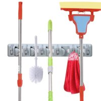 Wall Mounted Broom and Mop Holder for $10.59