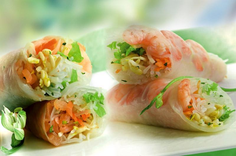 rouleaux de printemps. les gourmets d'Asie