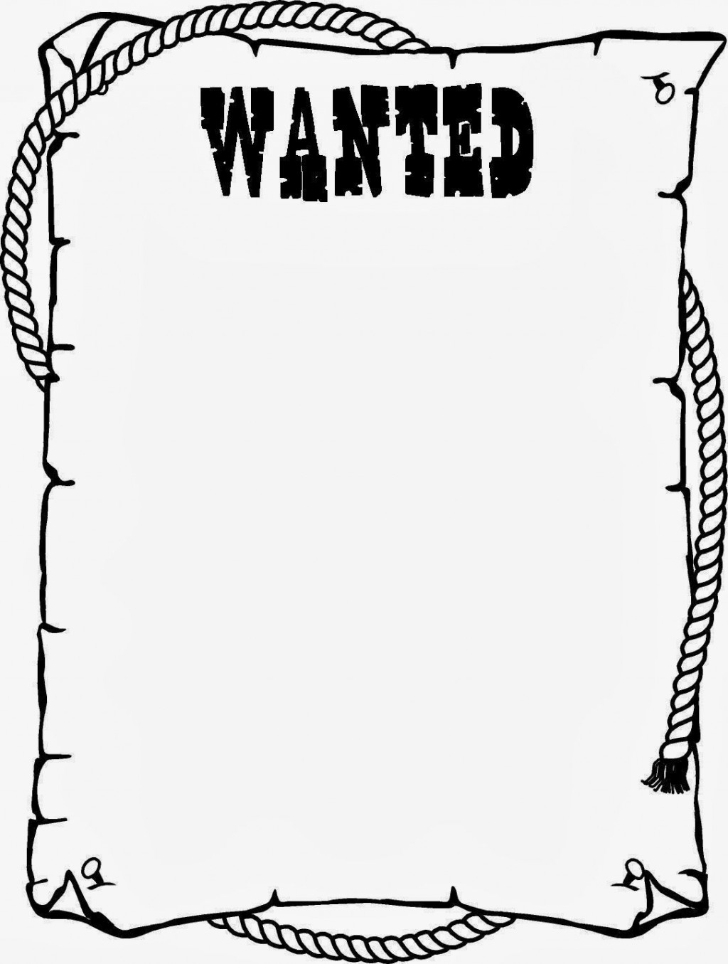 Wanted Poster Template Pdf ~ Addictionary