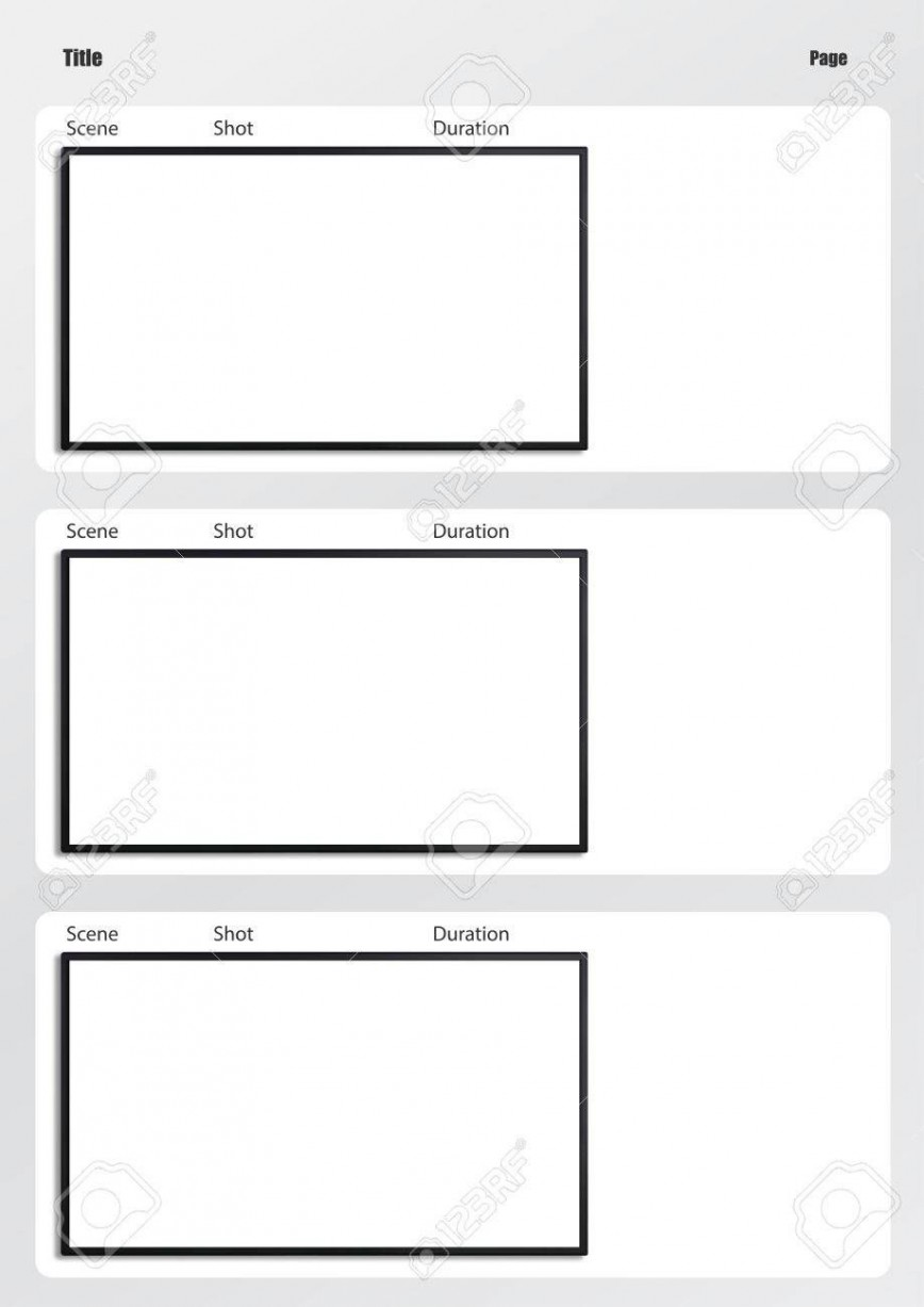 Storyboard Template Excel Collection