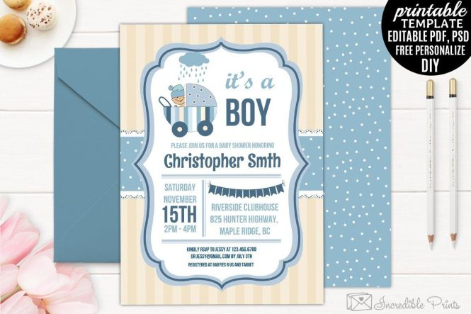 004 Archaicawful Baby Shower Invitation