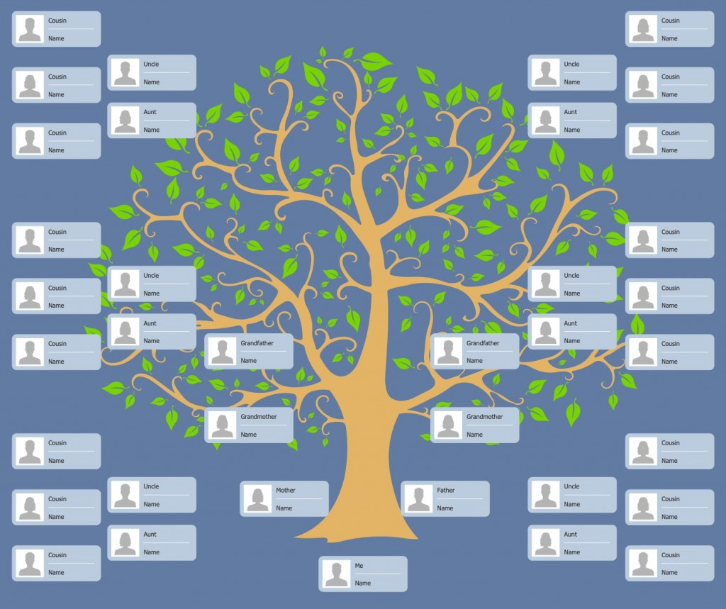 Family Tree Template Maker Addictionary