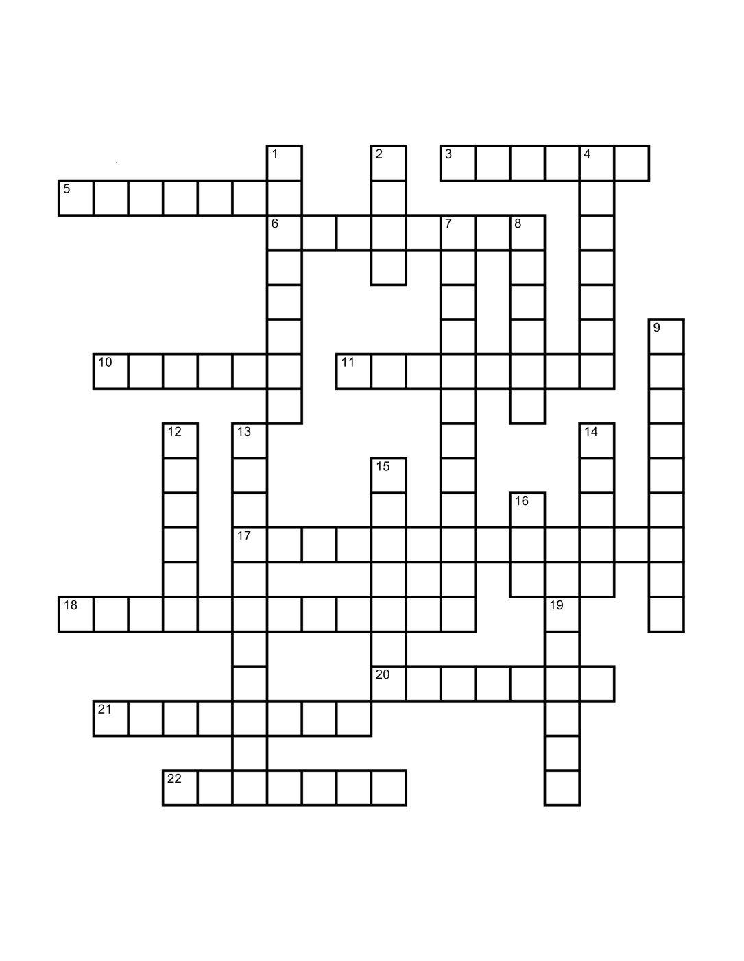 Best Crossword Puzzle Template ~ Addictionary