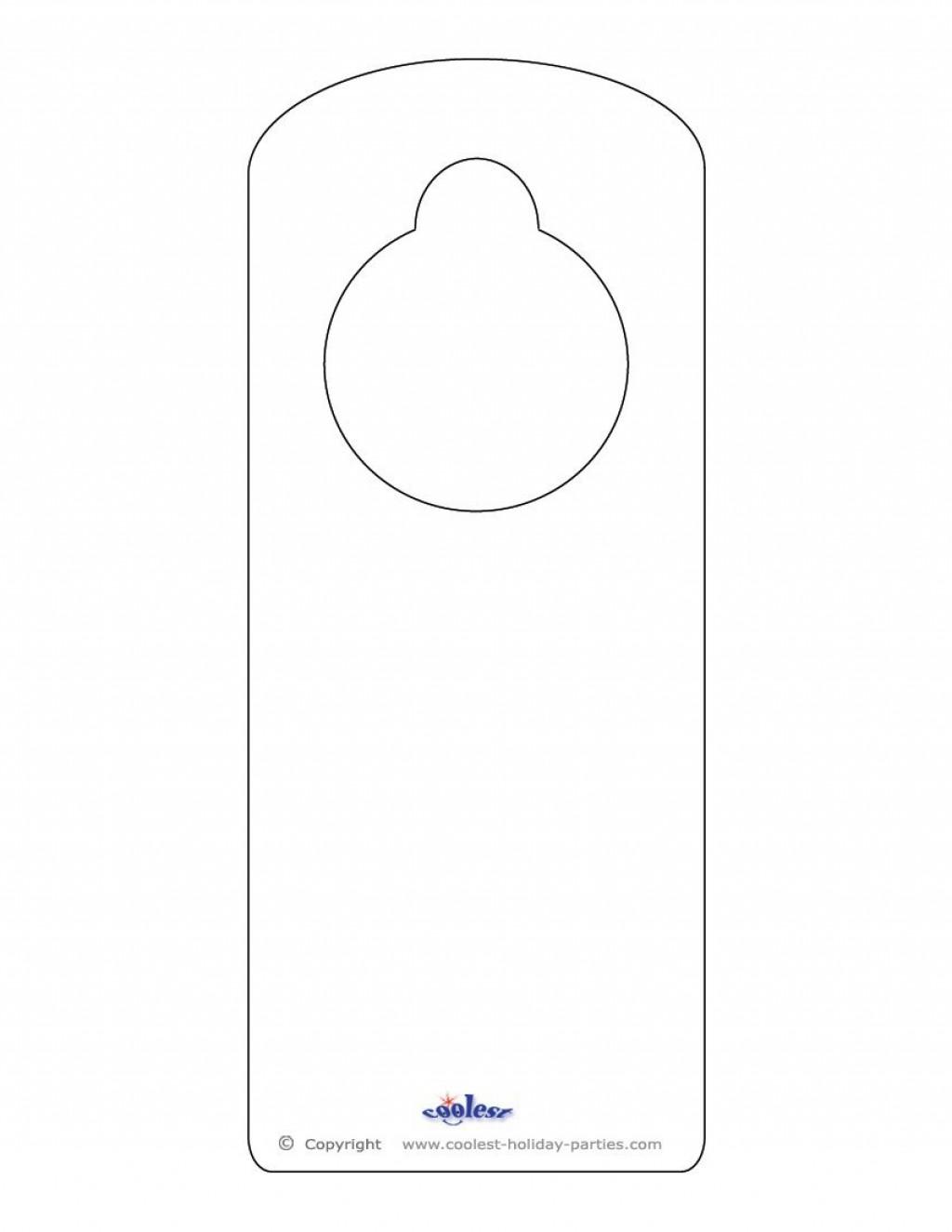 Free Printable Door Hanger Template ~ Addictionary