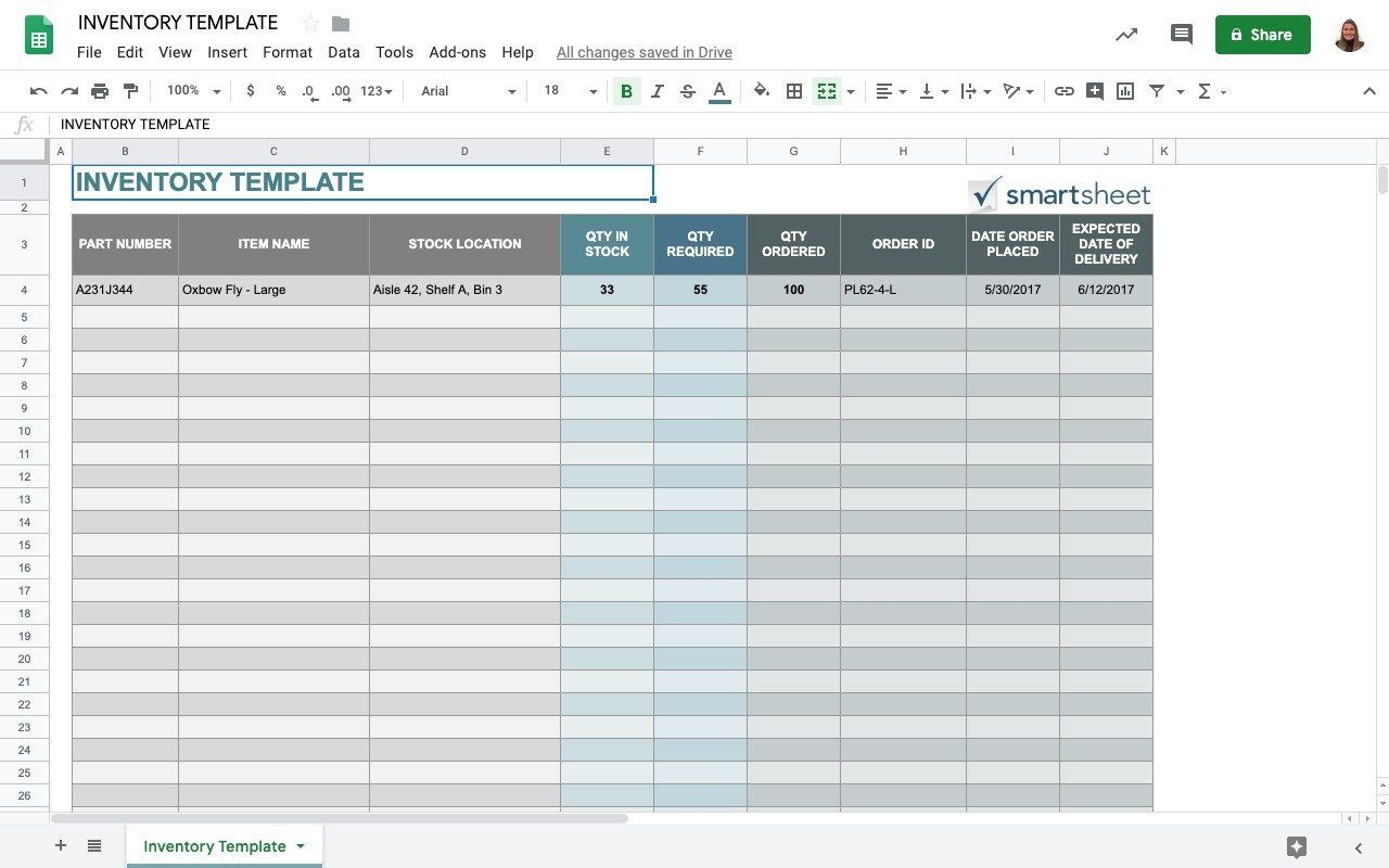 Small Business Inventory Spreadsheet Template Addictionary