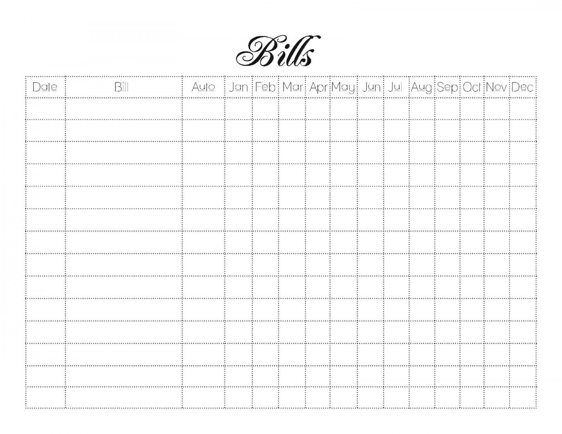 Printable Monthly Budget Template Addictionary