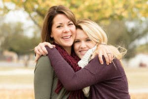A Woman And Her Daughter Learning How To Help A Recovering Addict