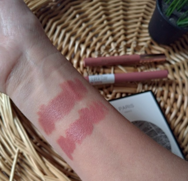 Maybelline staymatte ink lead the way swatch velvet kiss makeup revolution chauffeur swatch