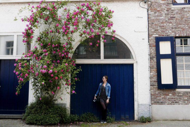 Bruges Door Flowers