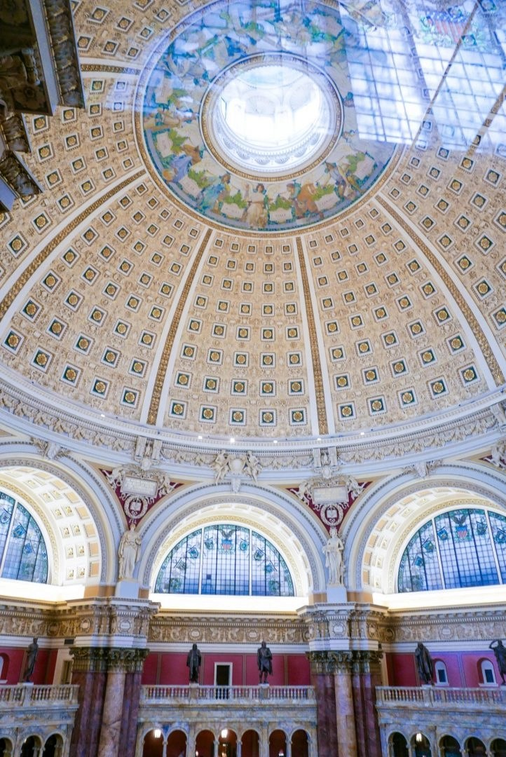 Ceiling of the Reading Room in the Library of Congress, Washington DC