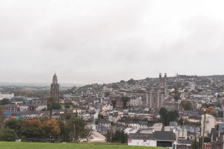 View from a hill in Cork City, Ireland