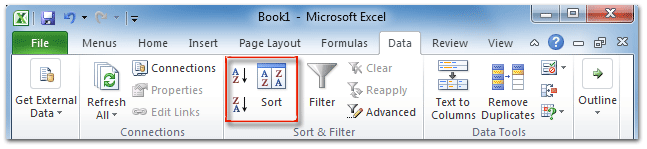 Where is Sort Command in Microsoft Excel 2007, 2010, 2013 and 2016