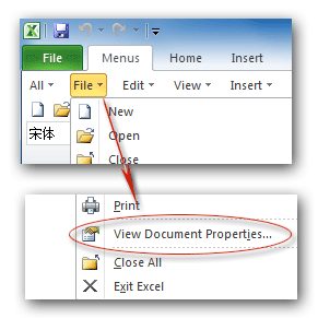 Where is Document Properties in Microsoft Excel 2007, 2010, 2013 and ...