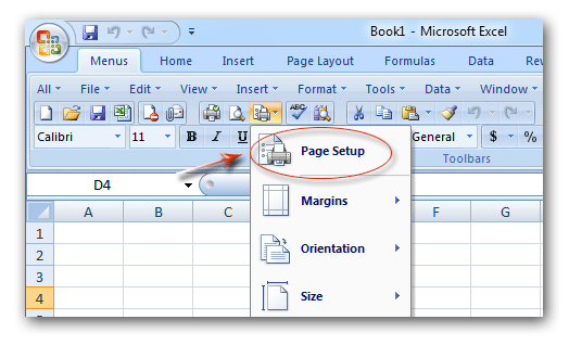 Where is Fit to One Page in Microsoft Excel 2007, 2010, 2013 and 2016