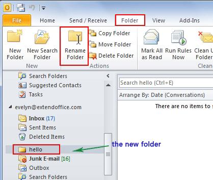 Rename the default folders  HowToOutlook