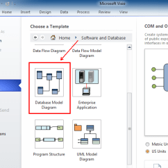 Database Diagram Visual Studio 2013 01 Nissan Frontier Radio Wiring Where Is Reverse Engineer In Microsoft Visio 2010 And 2016 After Selecting Software Double Click Model From The Scrolling Dialogue Box