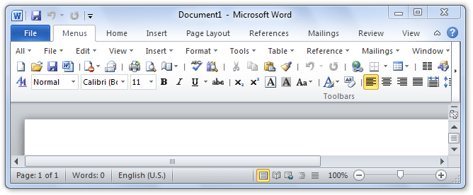 Difference of Tools Menu between Word 2003 Word 2007 and