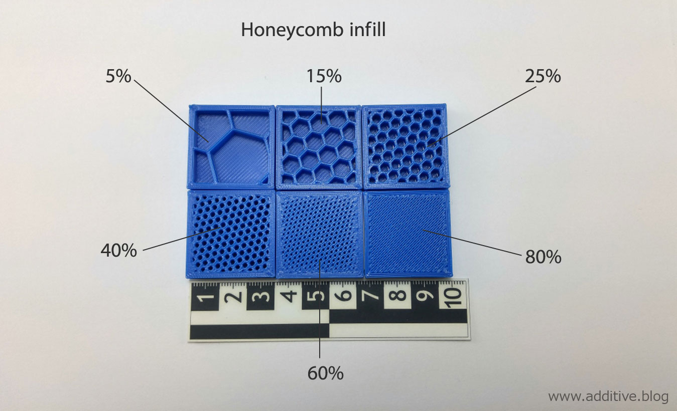 hight resolution of photo of an inner structure inside 3d printed part using fdm or fff 3d printer