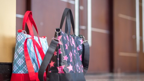 Some of your many bags filled with clutter. Simplify your life by getting rid of some.