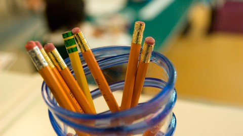 School supplies such as pencils should be already on hand before school starts.