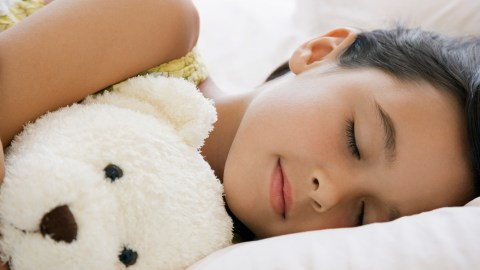 Girl sleeping in the middle of the day in the summer, not on a normal sleep schedule