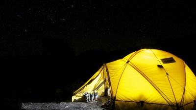 Summer Vacation Tent at Night