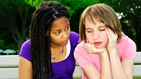 A teenager consoles a friend, using her gift of compassion.