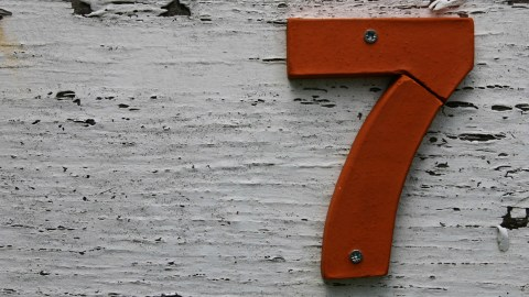 The number 7, representing the number of types of ADHD in Dr. Amen's healing program