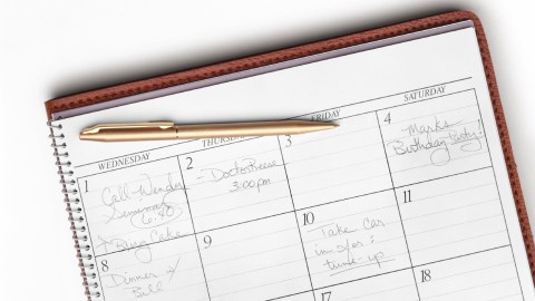 A planner is used to schedule Medication and Socialization and get your life in order.