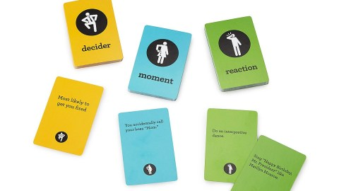 Awkward Moment at Work Card Game can help a person with ADHD find humor in real-life situations