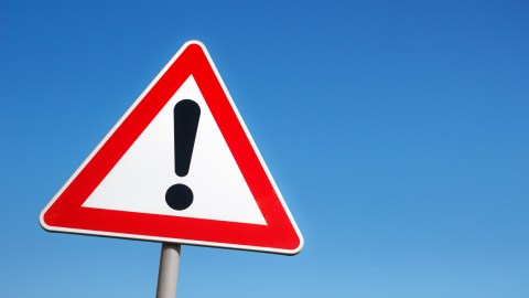 A warning road sign — a reminder to be careful about the YouTube videos you show children.