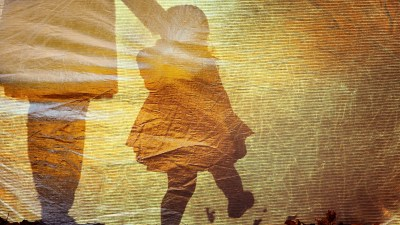 Shadow of a little girl and her mom, reflecting on how she grew up to be a teenager with ADHD