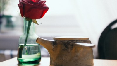 Finding happiness for me was as simple as a flower in a bud vase on my desk.