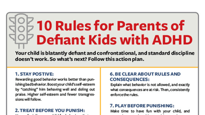 10 Rules for Parents of Defiant Kids