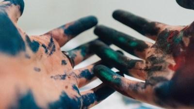 hands paint adhd teen girl
