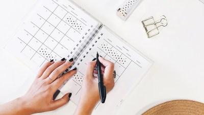 calendar planner adhd organization woman
