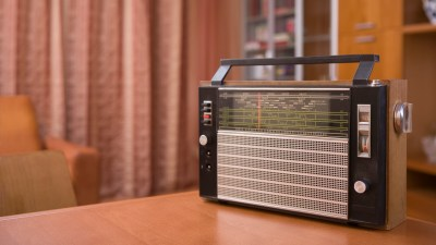 An old-timey radio, a piece of sentimental clutter that's difficult to let go of